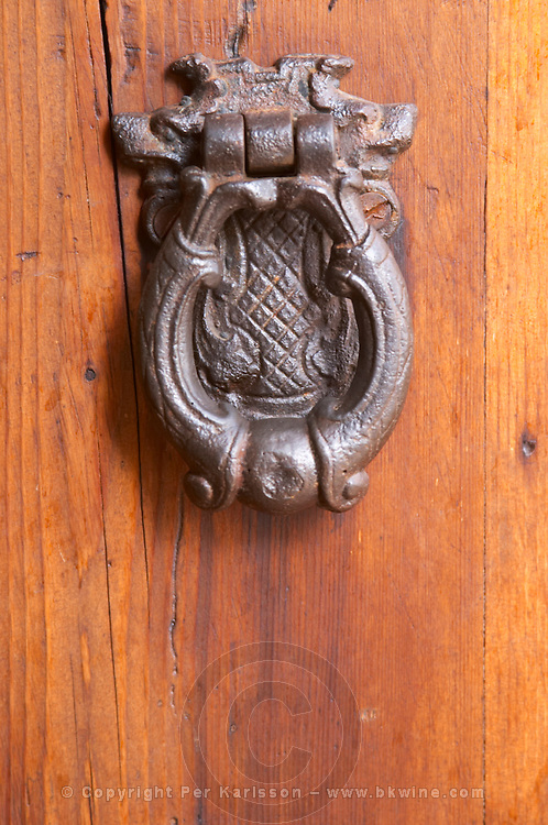 Door knocker. Albet i Noya. Penedes Catalonia Spain