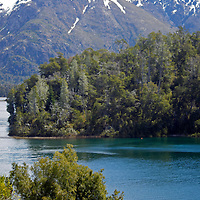 South America, Argentina, Bariloche. Lago Moreno at Llao Llao Resort.