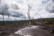 Destruction from the 2010 Gunung Merapi eruption near Kaliurang