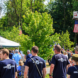 Ephrata, PA, USA - May 25, 2015: Members on the local fire company at the dedication ceremony of WWII Band of Brothers Commander Major Richard Winters Memorial.