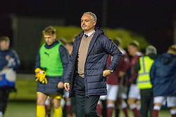 Falkirk's manager Ray McKinnon at the end. Stenhousemuir 4 v 2 Falkirk, 3rd Round of the William Hill Scottish Cup played 24/11/2018 at Ochilview Park, Larbert.