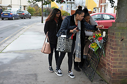 ©Licensed to London News Pictures 18/12/2019. <br /> Croydon ,UK. First flowers at the scene of a fatal stabbing in Croydon,South London. A 33 year old man was stabbed in the leg on Sunday night (December 15) on Drake road near Purley Way. Photo credit: Grant Falvey/LNP