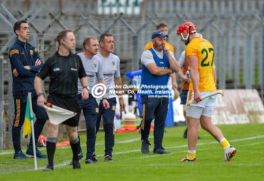 James Toher walks the long walk back to the dressing room after being sent off,  during the Meath v Kerry,  Joe McDonagh Cup match at Pairc Tailteann, Navan.<br /> <br /> Photo: GERRY SHANAHAN-WWW.QUIRKE.IE<br /> <br /> 10-07-2021