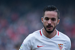December 16, 2018 - Seville, Andalucia, Spain - Pablo Sarabia of Sevilla FC during the LaLiga match between Sevilla FC and Girona at Estadio Ramón Sánchez Pizjuán on December 16, 2018 in Seville, Spain  (Credit Image: © Javier MontañO/Pacific Press via ZUMA Wire)