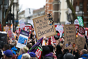 Peoples Assembly March for Health, Homes, Jobs and Education. End Austerity Now! march 16th April 2016 in London, United Kingdom. A plackard reads We are all in this together. Bullshit.  50.000 thousand plus turned out to protest against the Conservative Government and their austerity policies and against tax evasions revealed in the Panama Papers.
