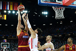 Predrag Samardziski of Macedonia during basketball match between Croatia vs Macedonia at Day 4 in Group C of FIBA Europe Eurobasket 2015, on September 8, 2015, in Arena Zagreb, Croatia. Photo by Matic Klansek Velej / Sportida