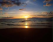 Sunset, Wailea Beach, Maui, Hawaii