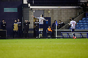 Millwall midfielder Shaun Williams (6) celebrates scoring Millwall's second 2-0 during the EFL Sky Bet League 1 match between Millwall and Bristol Rovers at The Den, London, England on 12 November 2016. Photo by Matthew Redman.
