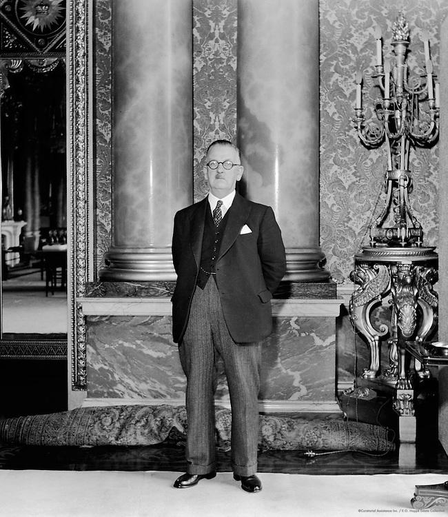 Mr. Williams, Superintendent of Buckingham Palace, London, c1937