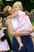 Photo shootof the Royal Family on their home De Horsten estate in Wassenaar.<br /> <br /> Op de foto:<br /> <br /> <br /> <br /> <br /> <br />  Prinses Maxima poseert met haar dochter Amalia // Princess Maxima poses with her daughter Amalia