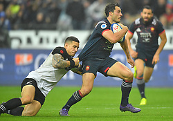 France 's Dans Ducuing during a rugby union international match at Stade de France stadium in Saint Denis, outside Paris, France, Saturday, Nov. 11, 2017Photo by Christian<br /> Liewig/ABACAPRESS.COM