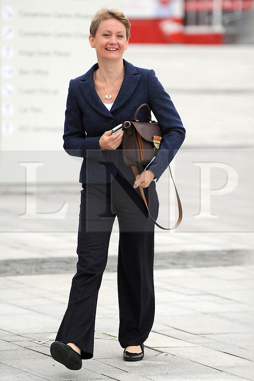 © Licensed to London News Pictures. 26/09/2011. LONDON, UK. Yvette Cooper, Shaow Home Secretary at The Labour Party Conference in Liverpool today (26/09/11). Photo credit:  Stephen Simpson/LNP