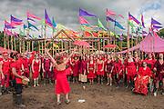 The Shatki Choir perform in the healing fields - The 2016 Glastonbury Festival, Worthy Farm, Glastonbury.