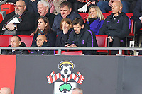 Football - 2018 / 2019 Premier League - Southampton vs. Tottenham Hotspur<br /> <br /> Tottenham Hotspur Manager Mauricio Pochettino using his mobile phone during the first half at St Mary's Stadium Southampton<br /> <br /> COLORSPORT/SHAUN BOGGUST