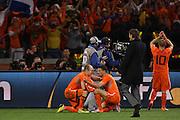 ©Jonathan Moscrop - LaPresse<br /> 06 07 2010 Cape Town ( Sud Africa )<br /> Sport Calcio<br /> Uruguay vs Olanda - Mondiali di calcio Sud Africa 2010 Semi finale - Stadio Punto Verde<br /> Nella foto: esultanza dei giocatori dell'Olanda dopo il fischio finale<br /> <br /> ©Jonathan Moscrop - LaPresse<br /> 06 07 2010 Cape Town ( South Africa )<br /> Sport Soccer<br /> Uruguay versus Holland - FIFA 2010 World Cup South Africa Semi final - Green Point Stadium<br /> In the photo: Holland players celebrate after the final whistle