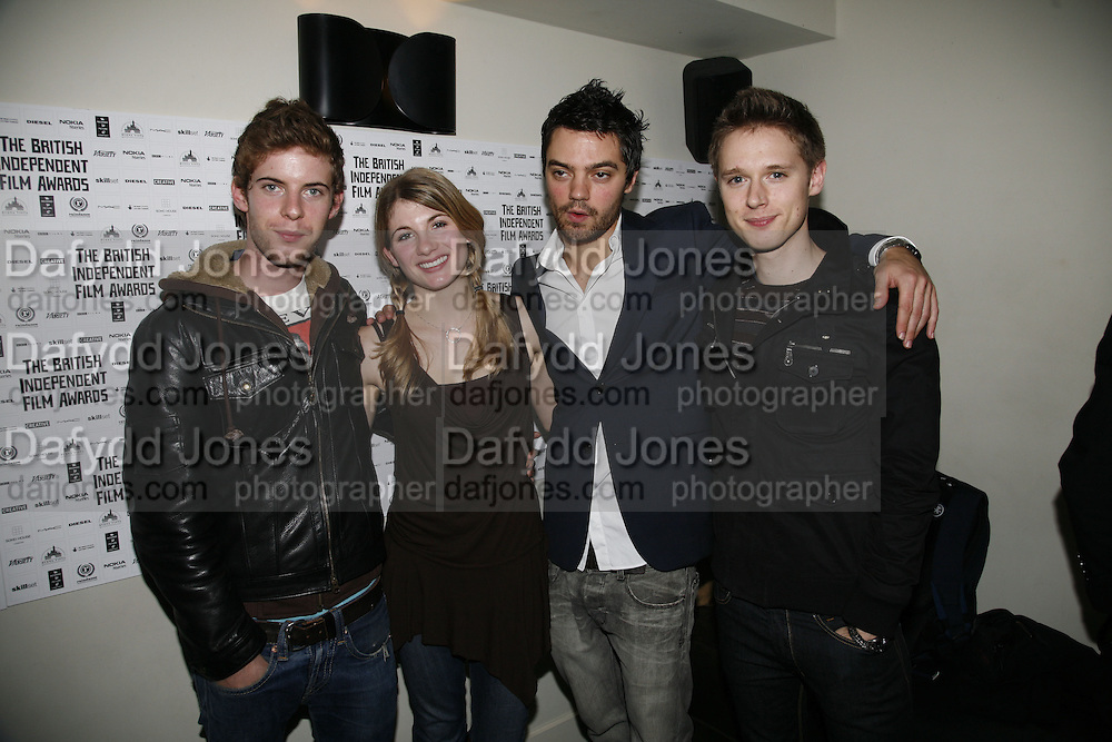 Luke Treadaway, Jodie Whittaker, Dominic Cooper and Samuel Barnett, 9th British Independent Film awards Announce Nominations and Jury today at Soho House. Supported by the UK Film council and Mac cosmetics.  Old Compton st. London. 25 October 2006. -DO NOT ARCHIVE-© Copyright Photograph by Dafydd Jones 66 Stockwell Park Rd. London SW9 0DA Tel 020 7733 0108 www.dafjones.com