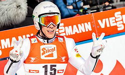 29.01.2017, Casino Arena, Seefeld, AUT, FIS Weltcup Nordische Kombination, Seefeld Triple, Skisprung, im Bild Franz-Josef Rehrl (AUT) // Franz-Josef Rehrl of Austria reacts after his Competition Jump of Skijumping of the FIS Nordic Combined World Cup Seefeld Triple at the Casino Arena in Seefeld, Austria on 2017/01/29. EXPA Pictures © 2017, PhotoCredit: EXPA/ JFK