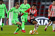 Adam Lang of Omonia Nicosia, Donyell Malen of PSV Eindhoven during the UEFA Europa League, Group E football match between PSV and Omonia Nicosia on December 10, 2020 at Philips Stadion in Eindhoven, Netherlands - Photo Perry vd Leuvert / Orange Pictures / ProSportsImages / DPPI