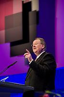 09 JAN 2012, KOELN/GERMANY:<br /> Peter Heesen, Bundesvorsitzender Deutscher Beamtenbund, dbb, haelt eine Rede, dbb Jahrestagung 2012, Messe Koeln<br /> IMAGE: 20120109-01-079<br /> KEYWORDS: Köln, Beamtenbund
