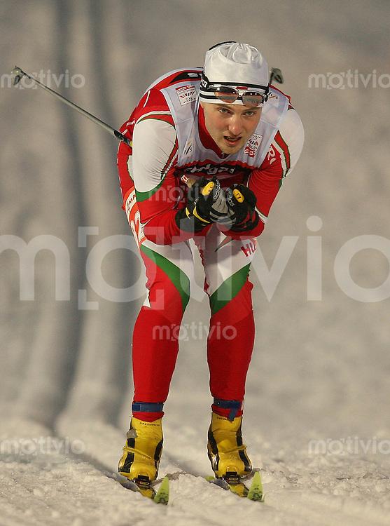 Sapporo , 220207 , Nordische Ski Weltmeisterschaft  Sprintrennen der Maenner ,  Csaba CSEKE (HUN)