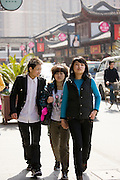 Young Chinese people in the Yu Garden Bazaar, Shanghai, China