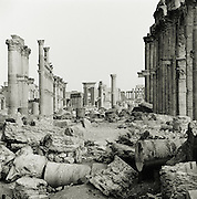 Ruins in the ancient city of Palmyra, Syria, a UNESCO World Heritage Site