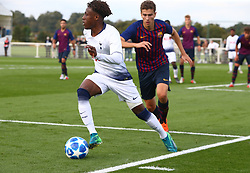 October 3, 2018 - London, England, United Kingdom - Enfield, UK. 03 October, 2018.Tariq Hinds of Tottenham Hotspur.during UEFA Youth League match between Tottenham Hotspur and FC Barcelona at Hotspur Way, Enfield. (Credit Image: © Action Foto Sport/NurPhoto/ZUMA Press)