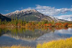 Gargoyle Mountain, reflection,  Jasper National Park