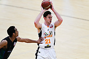 Taylor Hawks Angus Brandt in action during a match against the Auckland Super City Rangers.<br /> Super City Rangers v Taylor Hawks, NBL NZ, Trusts Arena, Auckland, New Zealand. 7 July 2018. © Copyright Image: Marc Shannon / www.photosport.nz.