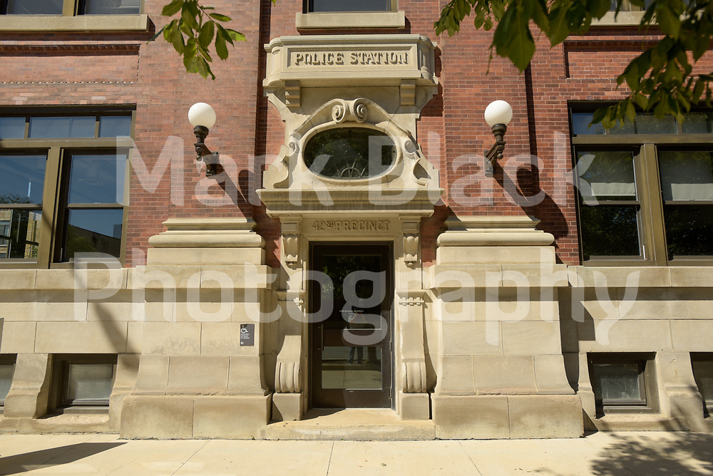 The historic 42nd Precinct Town Hall Police Station in Chicago on Friday, Sept. 4, 2020. Photo by Mark Black