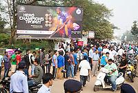 BHUBANESWAR (India) - Drukte bij de kaartverkoop  tijdens de kwartfinale westrijd in de Champions Trophy Hockey tussen de mannen van Nederland en Pakistan.  ANP KOEN SUYK