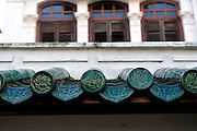 Antique Chinese roof tiles. Emerald Hill, Singapore