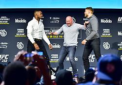 November 2, 2018 - New York, New York, U.S. - Jon Jones vs. Alexander Gustafsson during UFC 232 Press Conference at Madison Square Garden. (Credit Image: © Jason Silva via ZUMA Wire)