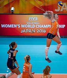 03-10-2018 NED: World Championship Volleyball Women day 5, Yokohama<br /> Argentina - Netherlands 0-3 / Marrit Jasper #18 of Netherlands