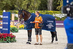 Greve Willem, NED, Carambole<br /> Longines FEI Jumping Nations Cup Final<br /> Barcelona 2021<br /> © Hippo Foto - Dirk Caremans<br />  03/10/2021