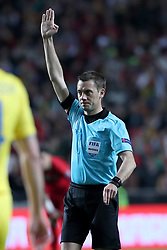 March 22, 2019 - Lisbon, Portugal - Referee Clement Turpin of France gestures during the UEFA EURO 2020 group B qualifying football match Portugal vs Ukraine, at the Luz Stadium in Lisbon, Portugal, on March 22, 2019. (Credit Image: © Pedro Fiuza/NurPhoto via ZUMA Press)