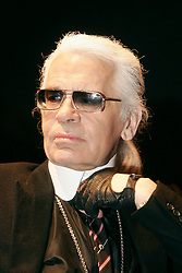 German designer Karl Lagerfeld attends a special show for genius Wolfgang Amadeus Mozart's 250th birtday recorded by Radio Classique at the Olympia theatre in Paris, France on January 27, 2006. Photo by Laurent Zabulon/ABACAPRESS.COM