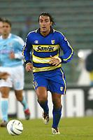 Roma 14/1/2004 - Coppa Italia<br />Lazio Parma 2-0<br />Simone Barone (Parma)<br />Foto Andrea Staccioli Graffiti