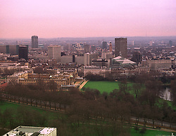 View of London from The Hilton, Park Lane on 31st January 1999. MNR 7