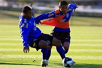 20090604: TERESOPOLIS, BRAZIL - Brazil National Team preparing match against Uruguay. In picture: Julio Baptista and Daniel Alves. PHOTO: CITYFILES