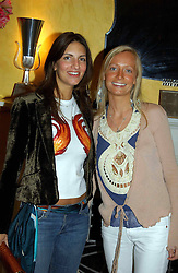 LEFT TO RIGHT, MISS GABBY HARRIS and MISS MARTHA WARD at a party to celebrate the launch of Michelle Watches held at the Blue Bar, The Berkeley Hotel, London on 7th October 2004.<br /><br />NON EXCLUSIVE - WORLD RIGHTS