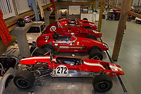 Nick Grewal has a lineup of Formula Jr's that will be on display during the Antique Car Show for the Boys and Girls Club coming up in late July.  (Karen Bobotas/for the Laconia Daily Sun)