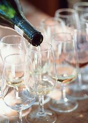 Close-up of wine being poured at Boschendal vineyard,Stellenbosch,Western Cape,South Africa (Credit Image: © Axiom/ZUMApress.com)