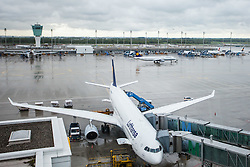 THEMENBILD, Airport Muenchen, Franz Josef Strauß (IATA: MUC, ICAO: EDDM), Der Flughafen Muenchen zählt zu den groessten Drehkreuzen Europas, rund 100 Fluggesellschaften verbinden ihn mit 230 Zielen in 70 Laendern, im Bild eine Maschine der Lufthansa, Typ Airbus A330-300 am Terminal dahinter Ansicht des Flughafen Gelaendes // THEME IMAGE, FEATURE - Airport Munich, Franz Josef Strauss (IATA: MUC, ICAO: EDDM), The airport Munich is one of the largest hubs in Europe, approximately 100 airlines connect it to 230 destinations in 70 countries. picture shows: a machine of the Lufthansa Airbus A330-300 at the airport terminal behind this view of the airport Munich, Munich, Germany on 2012/05/06. EXPA Pictures © 2012, PhotoCredit: EXPA/ Juergen Feichter