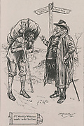 'Mr Worldly Wiseman meets with Christian, the pilgrim of the title.  Illustration by for a 1900 edition of ''The Pilgrim's Progress'', the Christian allegory by John Bunyan first published in 1678.'