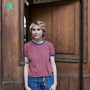 Piccolo Teatro Grassi, Milano, Italia, 29 Marzo 2021. Teresa Kucich, 21 anni, studentessa al secondo anno dell'Accademia di Brera, Decorazione.