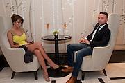 SARAH HARDING; TOM CRANE, The London Bar and Club awards. Intercontinental Hotel. Park Lane, London. 6 June 2011. <br /> <br />  , -DO NOT ARCHIVE-© Copyright Photograph by Dafydd Jones. 248 Clapham Rd. London SW9 0PZ. Tel 0207 820 0771. www.dafjones.com.