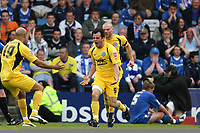 Chris Dagnall (Rochdale) celebrates equalising<br /> Gillingham vs Rochdale at the Priestfield Stadium Gillingham<br /> League Two Play Off Semi Final Second Leg 10/05/2009<br /> Credit Colorsport / Shaun Boggust