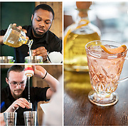 Patron mixology competition at Las Iguanas London where bartenders showcased their skills mixing cocktails