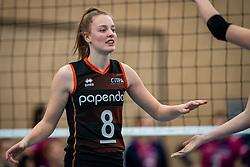 Jette Kuipers of Talent Team in action during the league match Talentteam Papendal vs.  Eurosped on January 23, 2021 in Ede.
